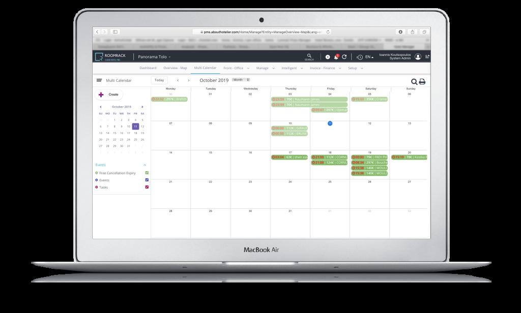 Calendar Hotel Management